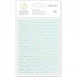 Наклейки gold foil boy word stickers 77 шт, Studio Calico