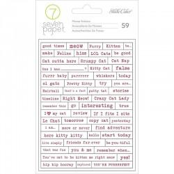 Наклейки baxter - cat phrases stickers 59 шт, Studio Calico