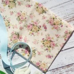 Хлопок Цветы на розовом фоне 50*40 см Корея