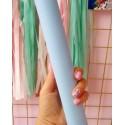 Итальянский переплетный кожзам Голубой матовый 25*35 см