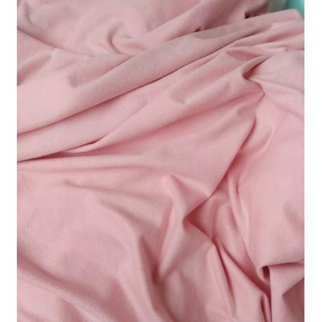 Замш двухсторонняя Пепельно-Розовая, средней плотности 25*37см