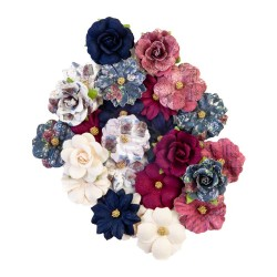 Цветы Prima Marketing Lost Memories/Darcelle Fabric Flowers 24шт