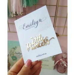 Little Princess 7.5х3.2 см золотой зеркальный пластик