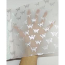 Калька А4 Бабочки с серебряным фольгированием