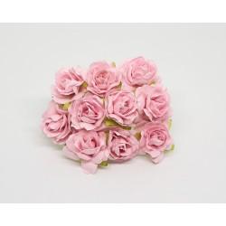 Кудрявые розы 3 см, розовые, 5 шт