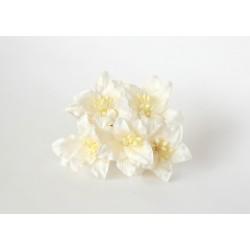 Лилии белые 30мм, 5 шт.
