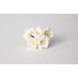 Цветы вишни белые, 5 шт. 25мм