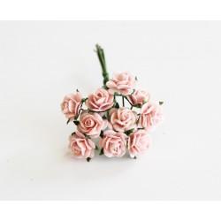 Розочки 10мм, 5 шт, розово-персиковые