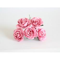 Maxi роза Розовая  4 см с закругленными лепестками