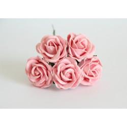 Maxi роза Розово-персиковая  4 см с закругленными лепестками