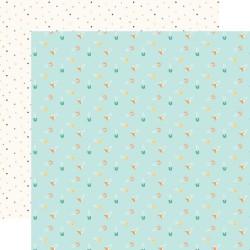 Лист скрапбумаги HELLO BABY BOY Boy Diaper Pins 30,5*30,5 см, Echo Park Paper