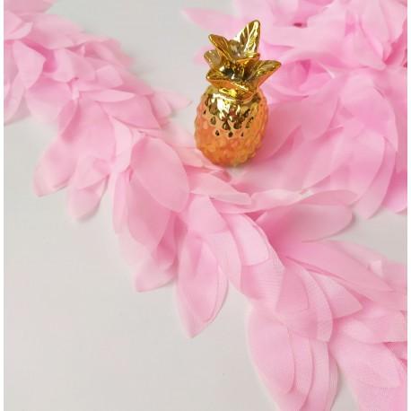 Шифоновые лепестки розовые , 10 см, длина лепестков 6 см