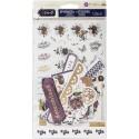 Набор высечек и наклеек DARCELLE, 126 шт с золотым фольгированием, Prima Marketing