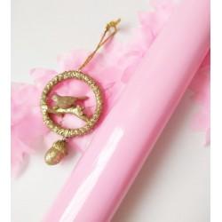 Самоклеющаяся пленка Розовый глянец 10*22,5 см