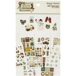 Набор наклеек Winter Farmhouse Mini Sticker Tablet 362/Pkg