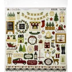 Наклейки A Cozy Christmas 30*30см Echo Park