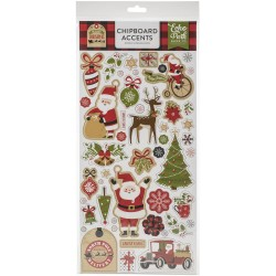 Чипборд My Favorite Christmas Chipboard Stickers 15X30см,  Echo Park Paper