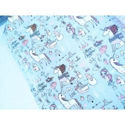 Упаковочная бумага Принцесса с единорогом 61*90 см