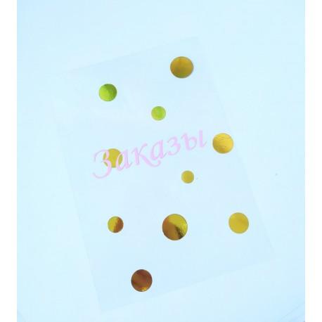 Ацетатный разделитель для планера А5  Заказы, розовый+золото , плотность 150