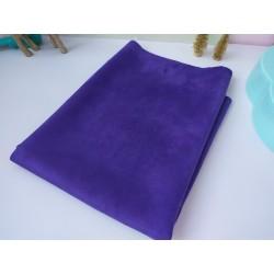 Замш Фиолетовый на дайвинге 25*37 см