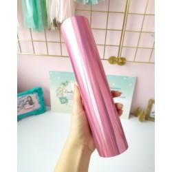 Термотрансферная пленка Голографическая2 Розовая 10*25 см