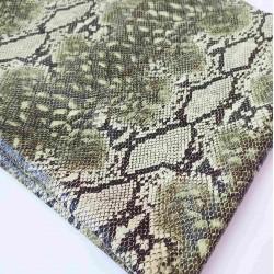 Кожзам текстурный Змея  25*34 см