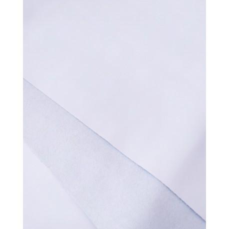 Белый Кожзам+замш двухсторонний 25*35 см