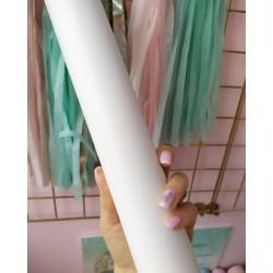 Итальянский переплетный кожзам текстурный белый матовый 25*35 см