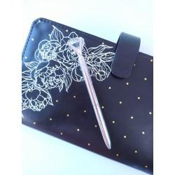 Шариковая ручка Серебро с Бриллиантом, металл, в индивидуальной пластиковой  упаковке