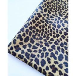 Кожзам текстурный Леопард  25*34 см
