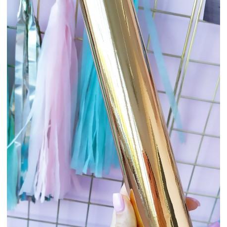 Самоклеющаяся пленка Золото глянец 10*22,5 см