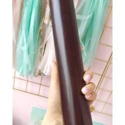 Итальянский переплетный кожзам Черный шоколад глянец 25*35 см