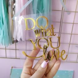 Do what you love 10,8х10,7см из зеркальной термотрансферной пленки