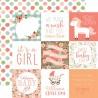"Лист скрапбумаги BABY GIRL 4""X4"" Journaling Cards 30,5*30,5 см, Echo Park Paper"