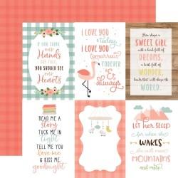 "Лист скрапбумаги BABY GIRL 4""X6"" Journaling Cards 30,5*30,5 см, Echo Park Paper"