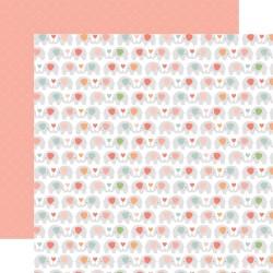 Лист скрапбумаги BABY GIRL Sweet Elephants 30,5*30,5 см, Echo Park Paper