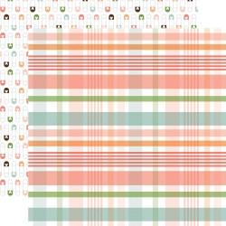 Лист скрапбумаги BABY GIRL New Arrival Plaid 30,5*30,5 см, Echo Park Paper