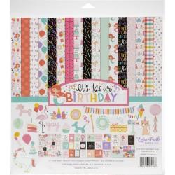Набор бумаги It's Your Birthday Girl 30,5х30,5 см + лист наклеек, Echo Park Paper