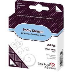 Уголки для фото ПРОЗРАЧНЫЕ , 250 шт, Scrapbook Adhesives