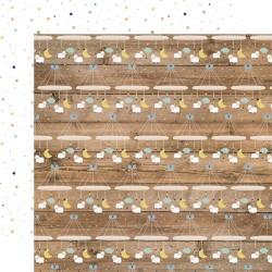 Лист скрапбумаги  BABY BOY Little Man Mobiles 30,5*30,5 см, Echo Park Paper