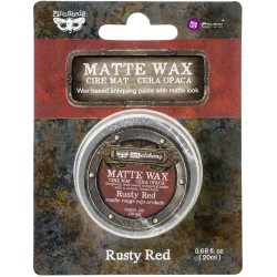 Воск матовый Rusty Red Finnabair Art Alchemy Matte Wax .68 Fluid Ounce 20 мл, Prima Marketing