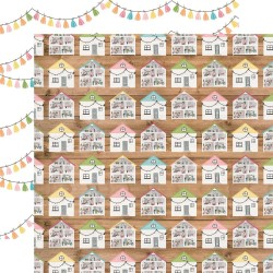 Лист скрапбумаги Dollhouse Dreams All Girl 30,5*30,5 см, Echo Park Paper