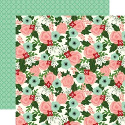 Лист скрапбумаги Salon Floral Salon 30,5*30,5 см, Echo Park Paper