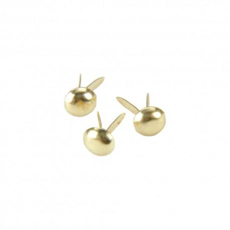 Набор брадсов Gold 100 шт Mini Metal Paper Fasteners 3mm