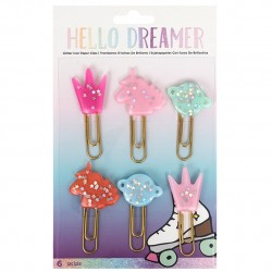 Набор скрепок HELLO DREAMER TWEEN PAPERCRAFTING - 1.8 X 5 - 6PCS