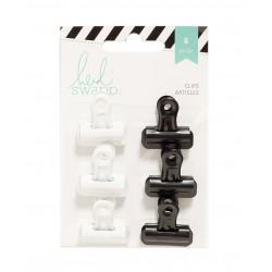 Биндер HEIDI SWAPP BULLDOG CLIPS BLACK & WHITE (6 PIECE)