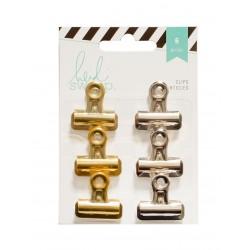 Биндер HEIDI SWAPP BULLDOG CLIPS SILVER & GOLD (6 PIECE)