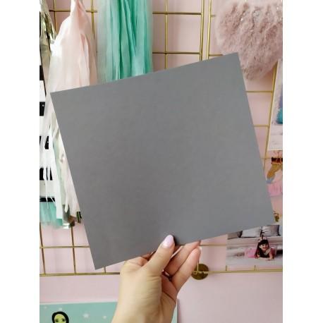 Дизайнерский картон серый 21*22,5 см, плотность 270 гр