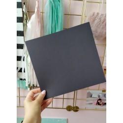 Дизайнерский картон темно-серый 21*22,5 см, плотность 270 гр