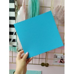 Дизайнерский картон голубой 21*22,5 см, плотность 270 гр